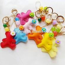 Fashion teddy bear key ring key chain keyring wholesale
