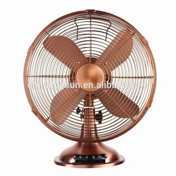 12 inch 30cm metal copper retro antique brushless motor for 12v dc table fan price