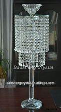 New arrival! Tall Single Head Crystal Candleholder Wedding Centerpieces (BS-CH036)