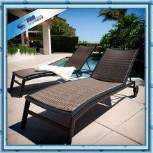 Pool outdoor wicker sun lounger