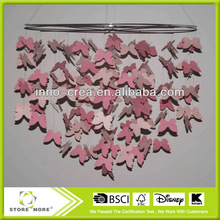 Hanging Butterfly Pink Butterflies Decorations - Decorate For A Baby Nursery Bedroom/Girls Room Ceiling Wall Deco