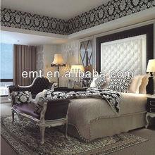Modern wooden furniture bedroom design for star hotels(EMT-602)