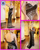 2015 new model wedding dress gaun satin abendkleider off-shoulder latest formal designer beaded evening gowns