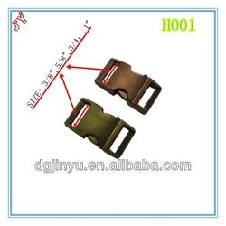 Metal buckle/Metal Curved Side Release Buckle/metal curved buckle for Survival Paracord Bracelets