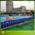 Ao ar livre piscina armação de metal& acima do solo piscina metal