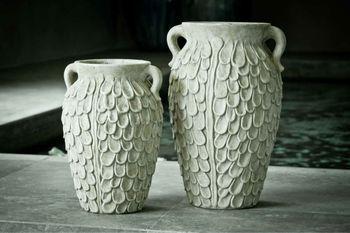 H134 fibercement antique garden urn planter