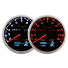 60mm 10-Color 4 in 1 Exhaust Gas Temp, Volt, Pressure, Temp Auto Racing Gauge with Remote Controller