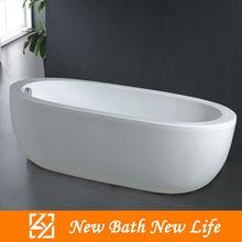 white acrylic oval free standing bathtub/deep bathtub/hot bathtub