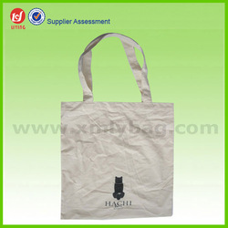 Natural White Plain Cotton Canvas Tote Bag for Shopping