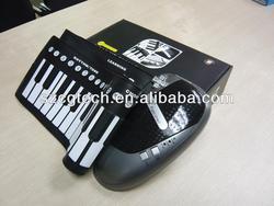 silicone 61 keys folding piano silicone flexible piano keyboard, china victory roll up piano