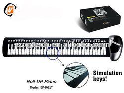 61 keys roll up piano, china victory roll up piano,roll up piano keyboard