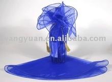 round organza floral wrap for wedding favor gift wrap