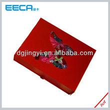 bright red Cardboard Paper wedding favor Box