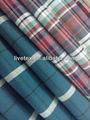 grande de verificación de diseño de poliéster viscosa tela de mezcla para camisas