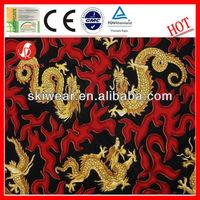High Color Fastness Polyester Dragon Printed Fleece Fabric