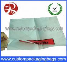 Waterproof document packing list enclosed plastic envelope