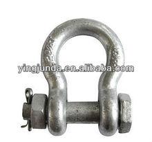 high polished U.S. bolt type anchor shackle marine hardware bow shackle price pin