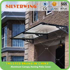 Wind resistant Aluminum Polycarboante Door Canopy Porch Shelter Outdoor Patio Cover Awning Rain Protector 120 x 70 cm