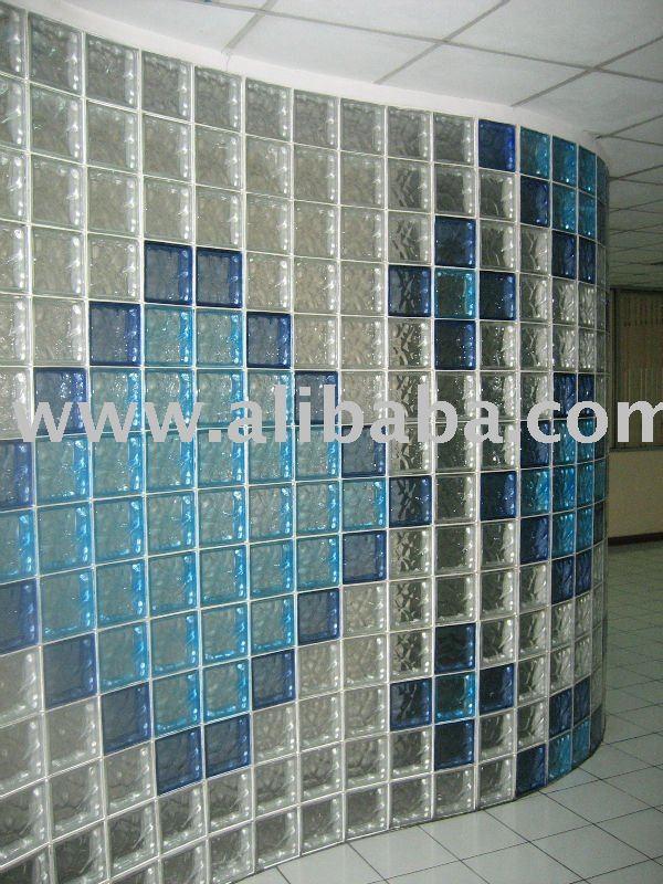Bloque de vidrio cristal de construccion identificaci n - Cocinas con bloques de vidrio ...