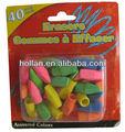 gommes à effacer 40 couleurs assorties pack