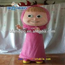 Masha and Bear mascot costume,cartoon costume