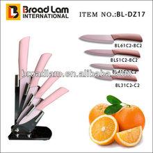 Pink Color Coated Handle & Blade Ceramic Kitchen Knife set