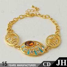 Jh fábrica venta al por mayor oro pulsera de Tous de la joyería