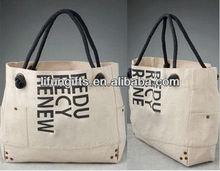2014 Eco friendly canvas shopping bag/ custom printed recycled shopping bag