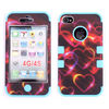 Mobile Phone Design Hard Hybrid Case Cover Rubberize Silicone Case For iPhone 4S 4