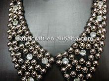 12 K gold fade lady temeperament diamond necklace collar N-022