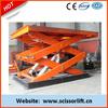 Stationary scissor hydraulic motorcycle lift table