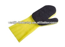 Simple and easy pet brush sponge pad cleaning gloves used in light industry/agricultal approved CE/ISO