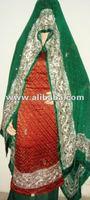 Hand Embroidered Pure Brocade Crepe Punjabi Suit
