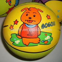natural mini kid rubber basketball size 1