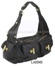 new arrival brand name 2015 black color business women handbag leather bag,woman handbag