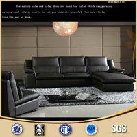 Home Furniture House Design Simple Leather Corner Sofa