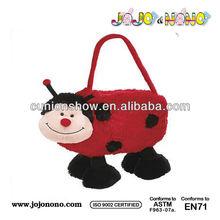Plush ladybug handbags plush animal bag kids plush bags