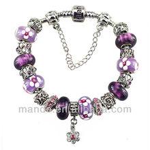 trend women charm bracelet of fashion jewelry,bracelet with beads in Timepiece Jewelry Eyewear &wholeasle on ali express