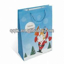 2013 paper gift bag with handle, paper bag printing, gift packaging bag