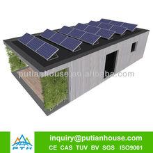 Better insulation one floor solar power prefab house designs for Belgium