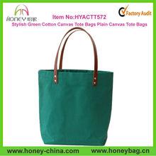 Stylish Green Plain Fashion Ladies Elegance Handbag Cotton Canvas Fashion Lady Elegance Handbags