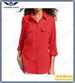 2013 de moda dama de gasa de seda tops y blusas
