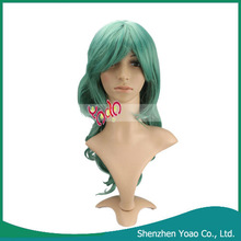 Anime Blue Green Long Curly Wig