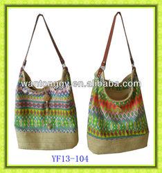 NEW design striped retro design cheap women canvas bag