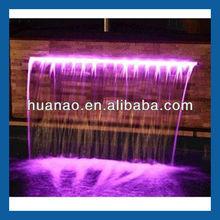 Decoração cachoeira acrílico água decorativo cascatas plástico cachoeira enfeites para piscina