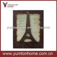Metal antique Eiffel tower wall art decor