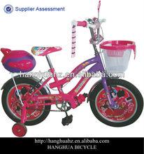 HH-K1621 Pink beach cruiser children bike with basket from China factory