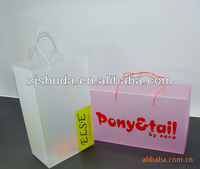 Hot Sale plastic pp packaging box with handle/perfume plastic packaging box