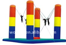 CE certificate inflatable bungee trampoline for kids and adults