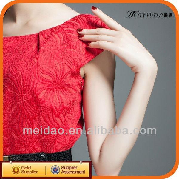 2013 New Fashion Design Women Latest Red Fashion Dress